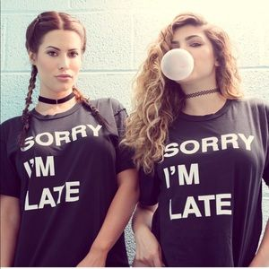 Jac Vanek Sorry I'm late Tee